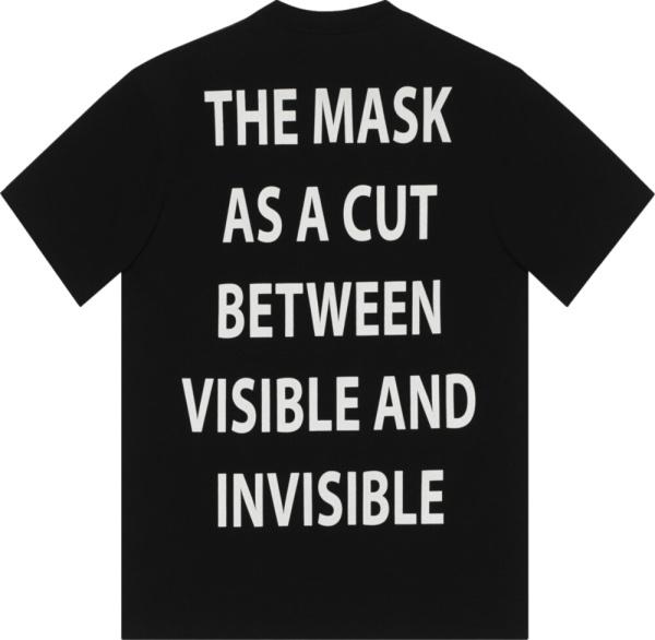 Gucci Black Manifesto Print T Shirt