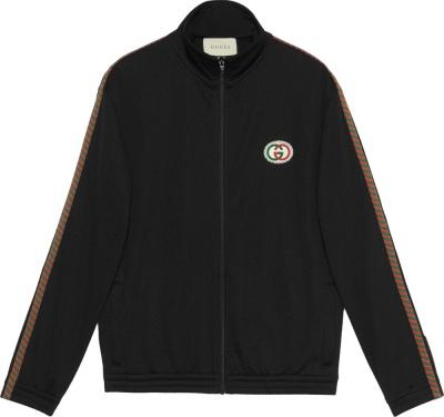 Gucci Black Mesh Oversized Trackjacket