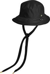 Black Drawstring Bucket Hat