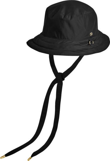 Gucci Black Nylon Drawstring Bucket Hat