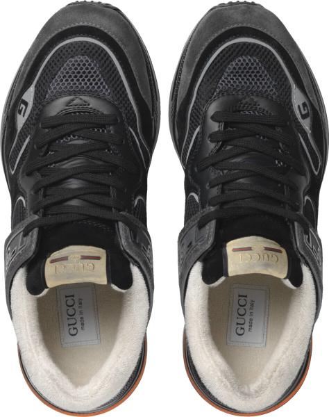 Gucci Black Orange Ultrapace Sneakers
