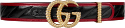 Gucci Black Red Gold Torchon Belt