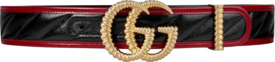 Gucci Black Red Gold Torchon Belt