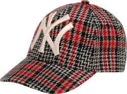 Gucci Black Red Plaid Nyy Hat