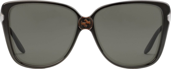 Gucci Black Rounded Square Sunglasses