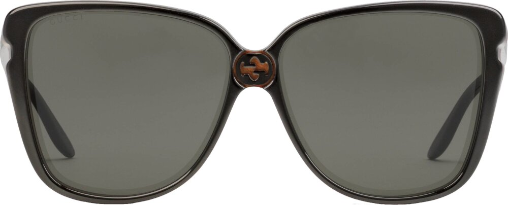 Gucci Black Rounded Square Sunglasses