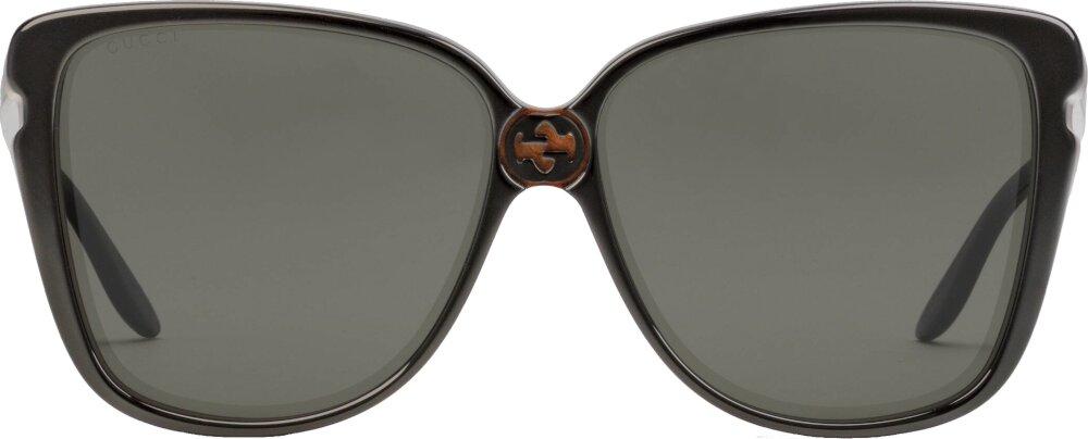 Black Oversized Square Sunglasses (GG0709S002)