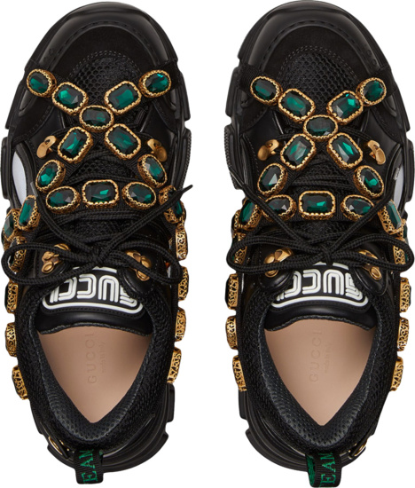 Gucci Black Sneakers With Removable Crystals
