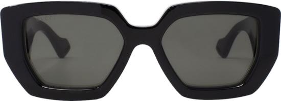 Gucci Black Square Frame Sunglasses
