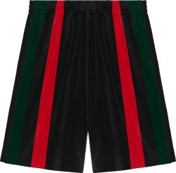 Gucci Black Striped Chenille Shorts