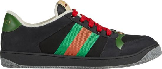 Gucci Black Suede Screener Sneakers