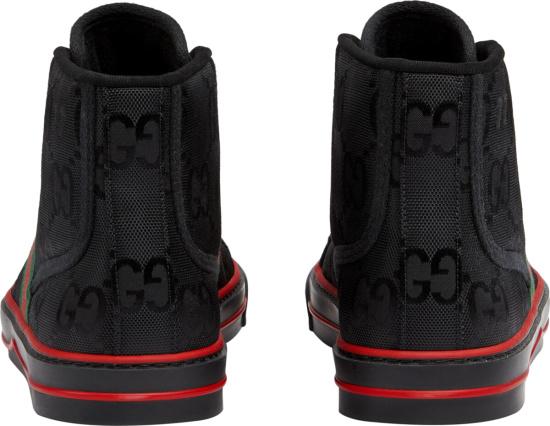 Gucci Black Supreme High Top Sneakers