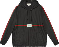 Black Coated Anorak Jacket