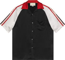 Gucci Black White And Red Acetate Bowling Shirt