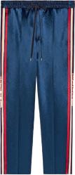 Gucci Blue Acetate Jogging Pants