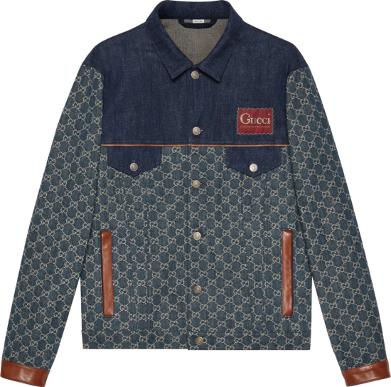 Gucci Blue Denim And Ivory Gg Washed Eco Jacket 649110 Xdbip 4266