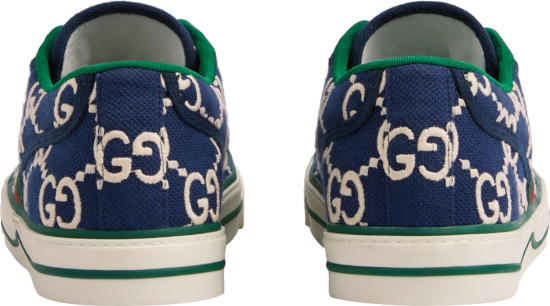 Gucci Blue Green Ace Sneakers