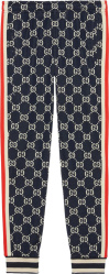 Gucci Blue Logo Jacuqard Jogging Pants