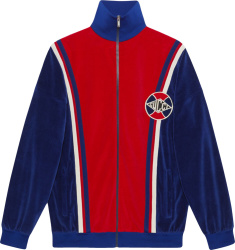 Gucci Blue Red Velour Track Jacket