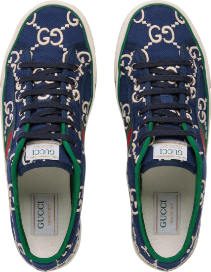 Gucci Blue Supreme Low Sneakers