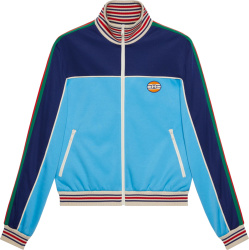 Gucci Blue Two Tone Side Stripe Trim Track Jacket 645206 Xjc5n 4233