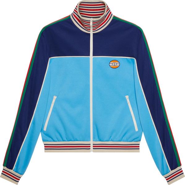 Gucci Blue Two Tone Side Stripe Trim Track Jacket 645206 Xjc5n 4233