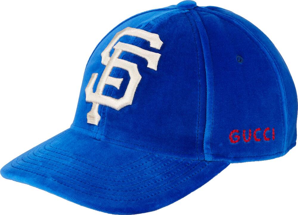 Gucci Blue Velvet San Francisco Giants Hat