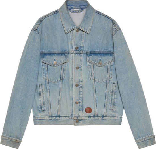 Gucci Blue Washed Denim Jacket 594850 Xda83 4452