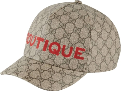 Gucci Boutique Print Beige Hat