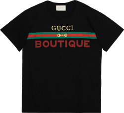 Gucci Boutique Print Black T Shirt 548334 Xjcky 1082