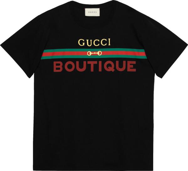 Gucci Boutique Print Black T Shirt 548334 Xjcky 1082
