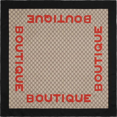 Gucci Boutique Print Supreme Scarf