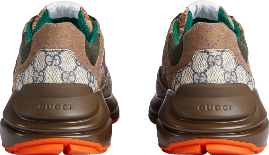 Gucci Brown And Burgundy Rhyton Sneakers