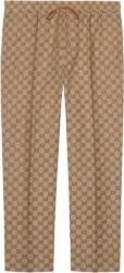 Gucci Brown Canvas Supreme Jogging Pants