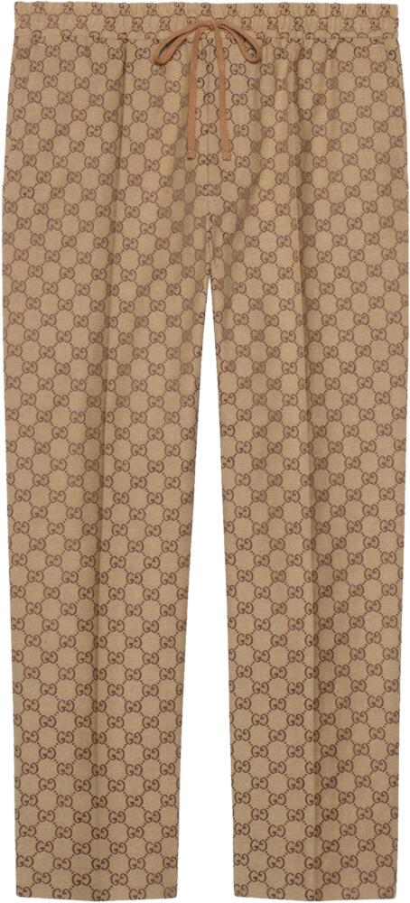Gucci Brown Canvas Supreme Jogging Pants