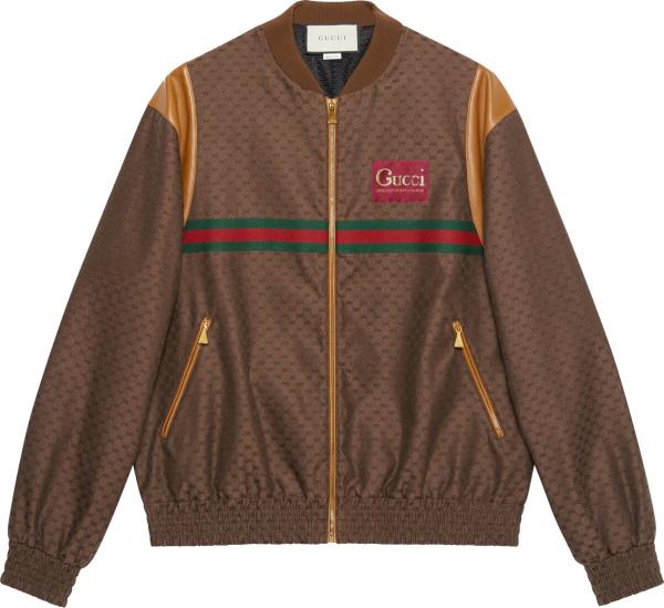 Gucci Brown Mini Gg Bomber Jacket