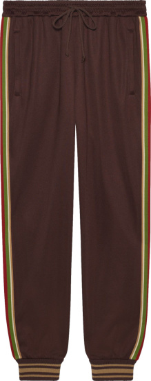Gucci Brown Side Striped Jogging Pants