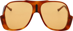 Gucci Brown Upside Down Avaitor Sunglasses
