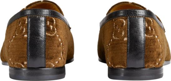 Gucci Brown Velvet Jordaan Loafers