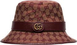 Gucci Burgundy Supreme Bucket Hat