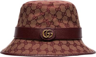 Gucci Burgundy Supreme Bucket Hat