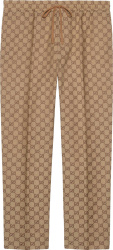 Beige Canvas Jogging Pants