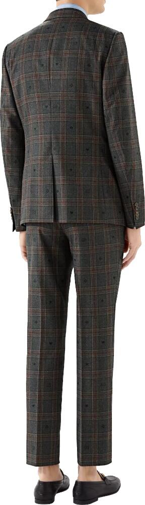 Gucci Elements Jacquard Grey Check Suit