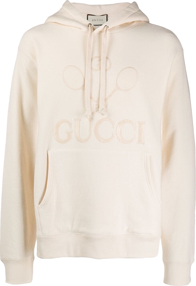 Gucci Embroidered Tennis White Hoodie