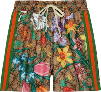 Gucci Floral Print Shorts