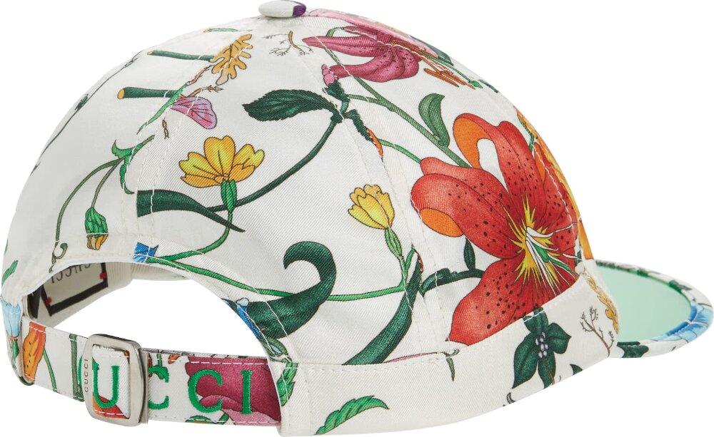 Gucci Floral Print Vinyl Brim Hat