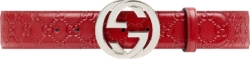 Red Monogram & Silver-GG Belt