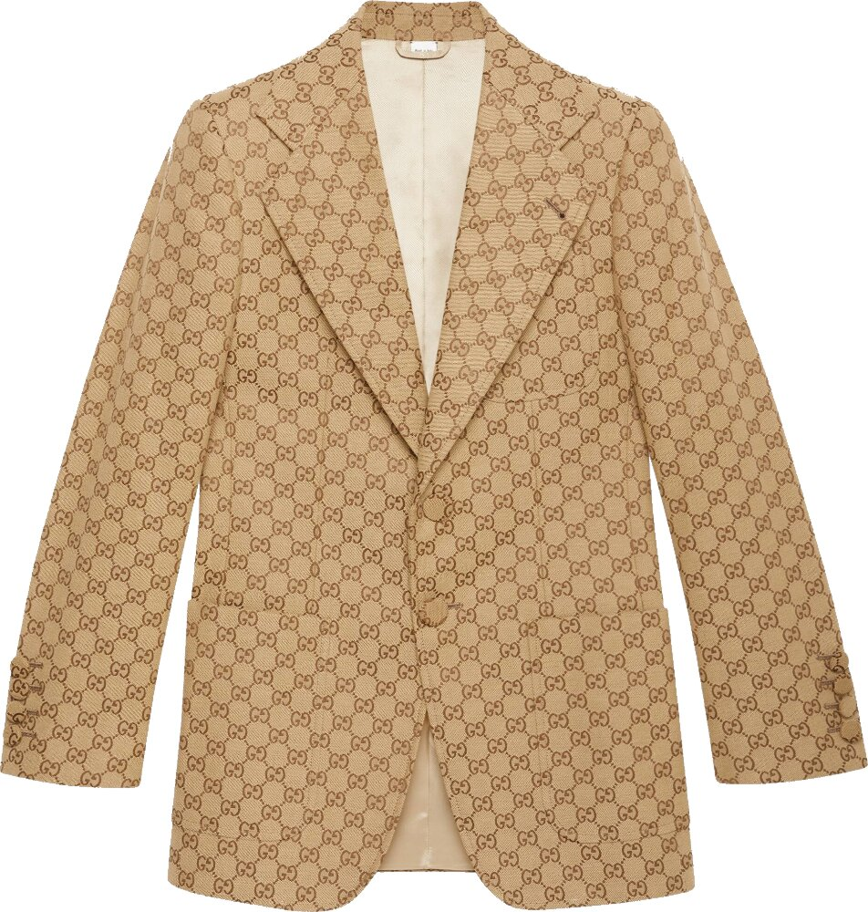 Gucci Gg Canvas Single Breast Jacket
