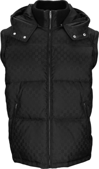 Gucci Gg Jacquard Puffer Jacket And Vest