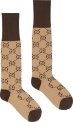 Gucci Gg Pattern Beige Socks